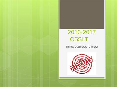 Info Session for the OSSLT 2016-2017